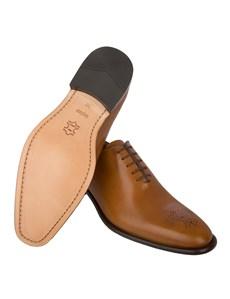 Men's Tan Wholecut Leather Shoe