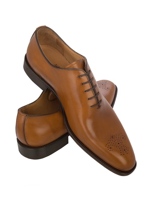 Men's Tan Wholecut Leather Shoe