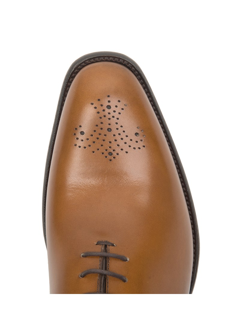 Business Schuhe – Wholecut Oxford – Leder – Hellbraun
