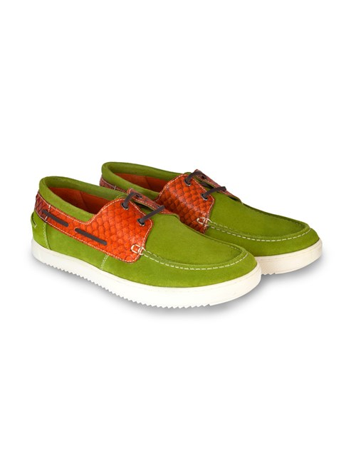 Men's Green Suede Boating Shoe
