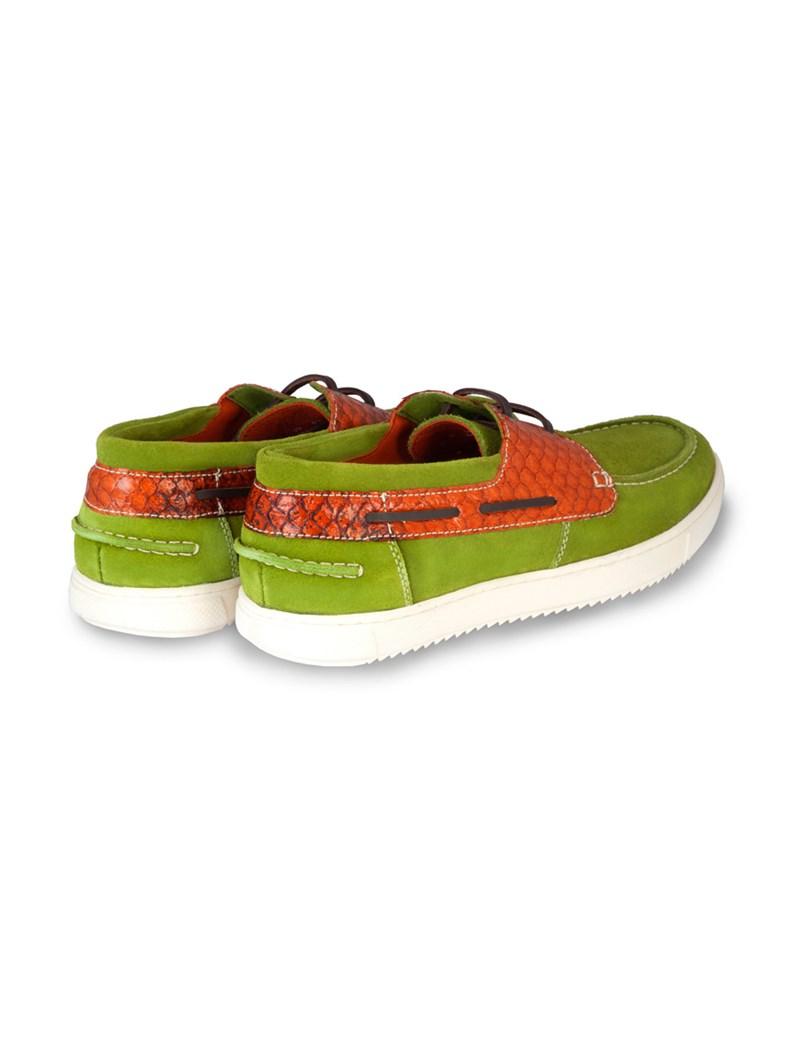 Men's Green Suede Boating Shoe