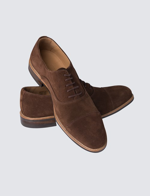 Business Schuhe – Captoe Oxford – Veloursleder – braun