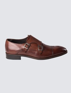 Men's Brown Leather Monk Shoe