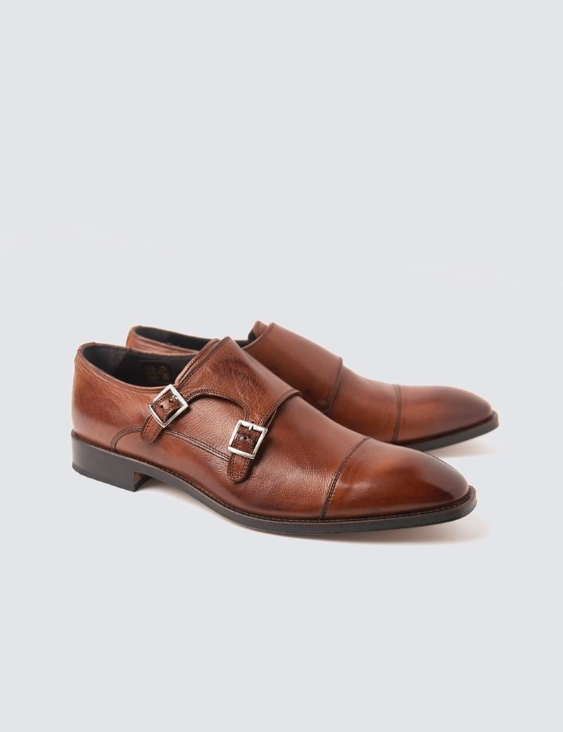 Men's Brown Leather Monk Shoe