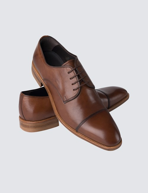 Business Schuhe – Captoe Derby – Leder – braun