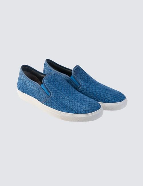 Men's Slip On Blue Trainer
