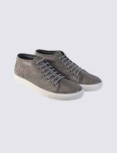 Men's Lace Up Grey Trainer