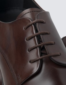 Men's Brown Leather Wholecut Shoes