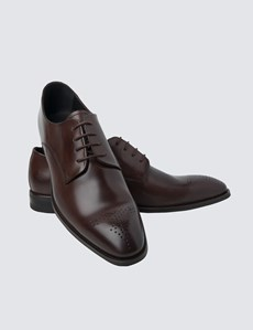 Men's Brown Leather Wholecut Shoe