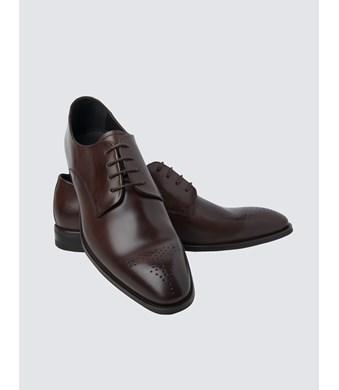 Business Schuhe – Derby – Leder – Dunkelbraun