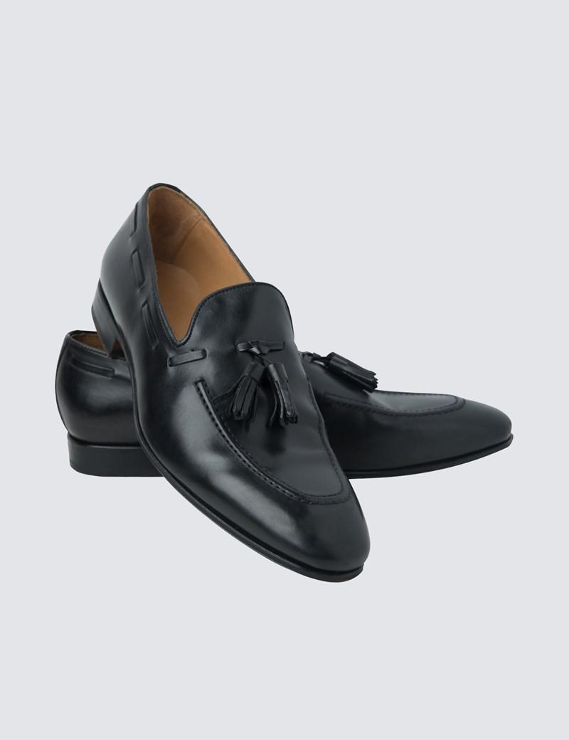 check out ca348 fe420 Slipper – Business Schuhe – Tassel Loafer – Leder – Schwarz
