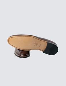 Men's Brown Leather Tassel Loafer