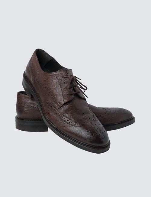 Men's Brown Leather Brogue
