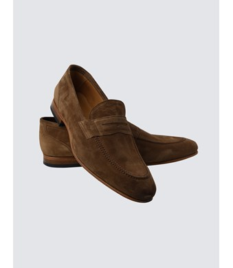 Men's Tan Suede Loafer