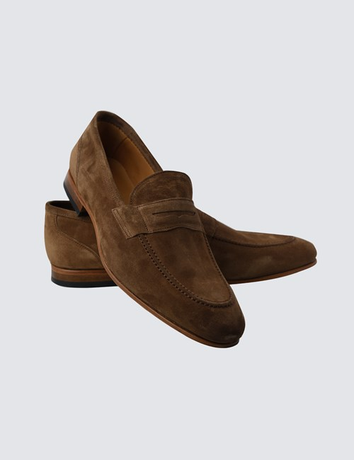 Men's Tan Suede Loafer
