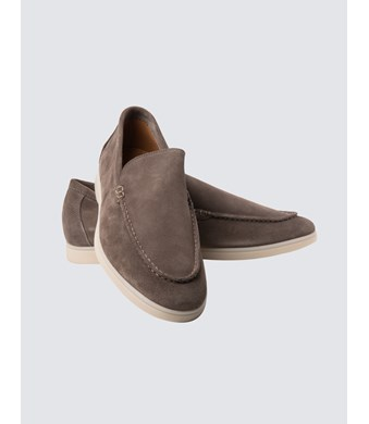 Men's Beige Suede Moccasin