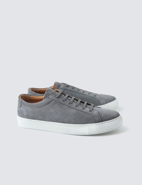 Sneaker - Veloursleder – Trainers – grau