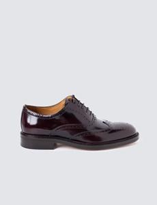 Men's Burgundy Leather Brogue Shoe