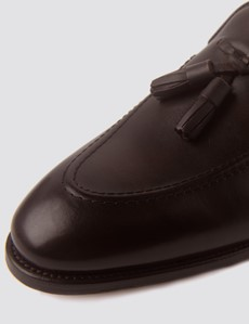 Men's Brown Leather Tassel Loafer