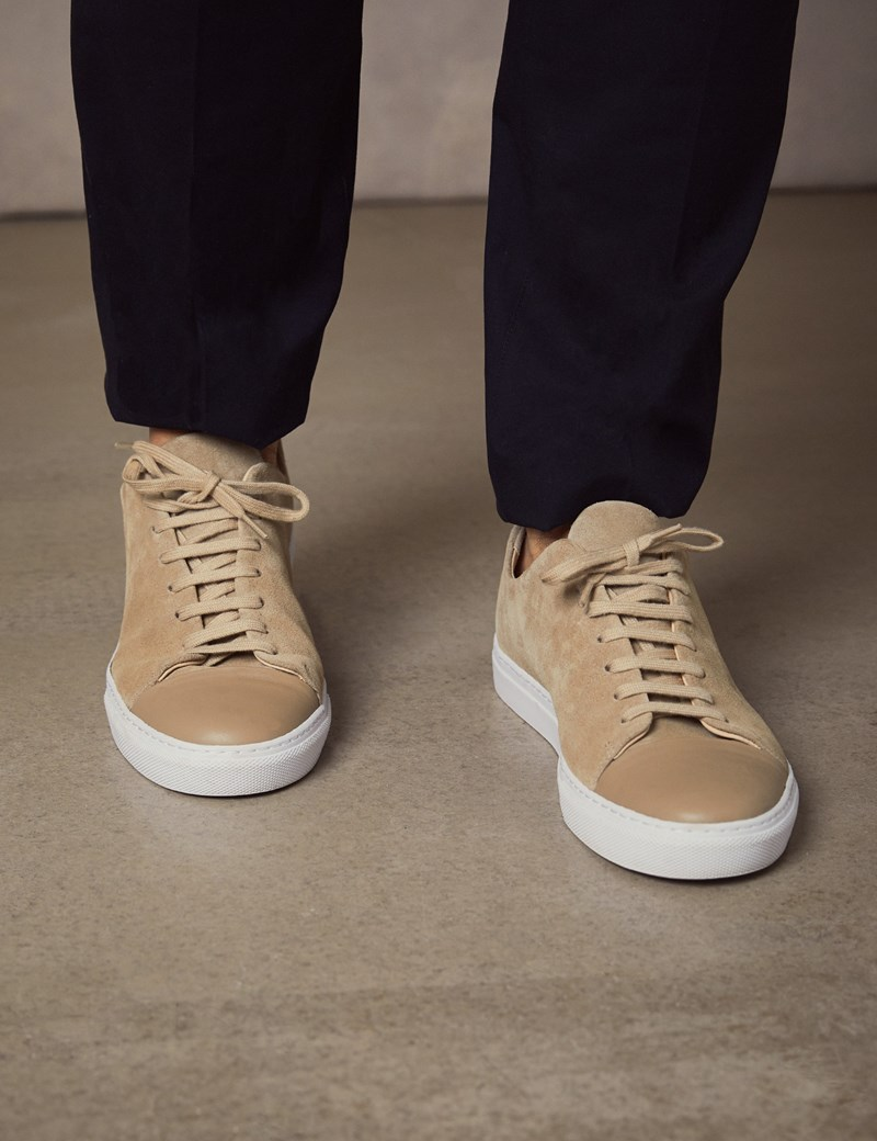 Men's Tan Suede & Leather Trainers