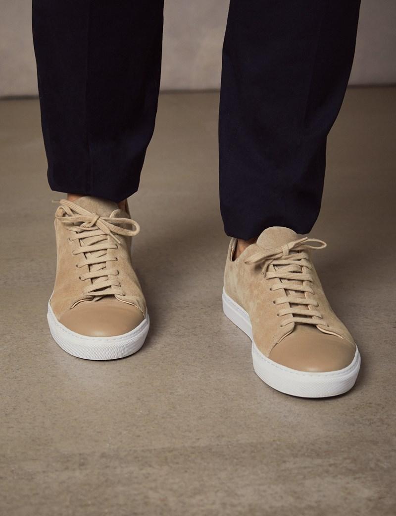 Sneaker – Veloursleder – Beige