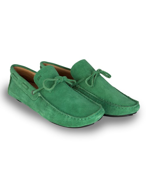 Men's Green Suede Driving Shoe
