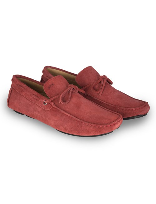 Men's Red Suede Driving Shoe