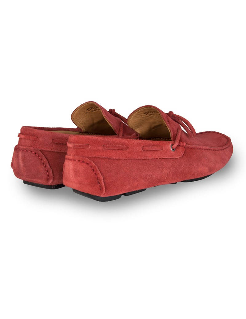 92728a270b16 Men's Red Suede Driving Shoe