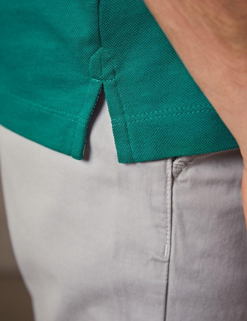 Men's Jade Mercerised Pique Cotton Polo Shirt - Short Sleeve