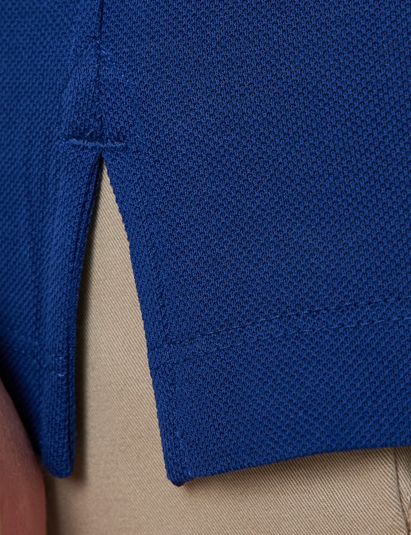 Midnight Blue Mercerised Egyptian Cotton Pique Short Sleeve Polo Shirt