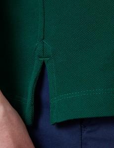 Green Mercerised Egyptian Cotton Pique Short Sleeve Polo Shirt
