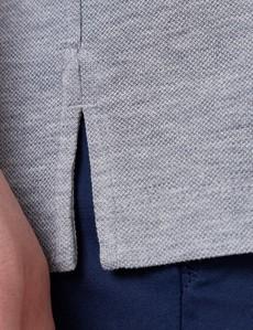 Kurzarm Poloshirt – Ägyptische Baumwolle – Grau Piqué