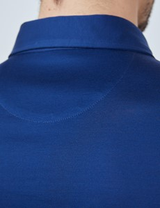 Midnight Blue Mercerised Egyptian Cotton Single Jersey Short Sleeve Polo Shirt