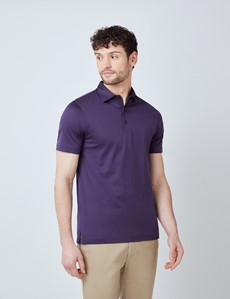 Blackberry Mercerized Egyptian Cotton Single Jersey Short Sleeve Polo Shirt