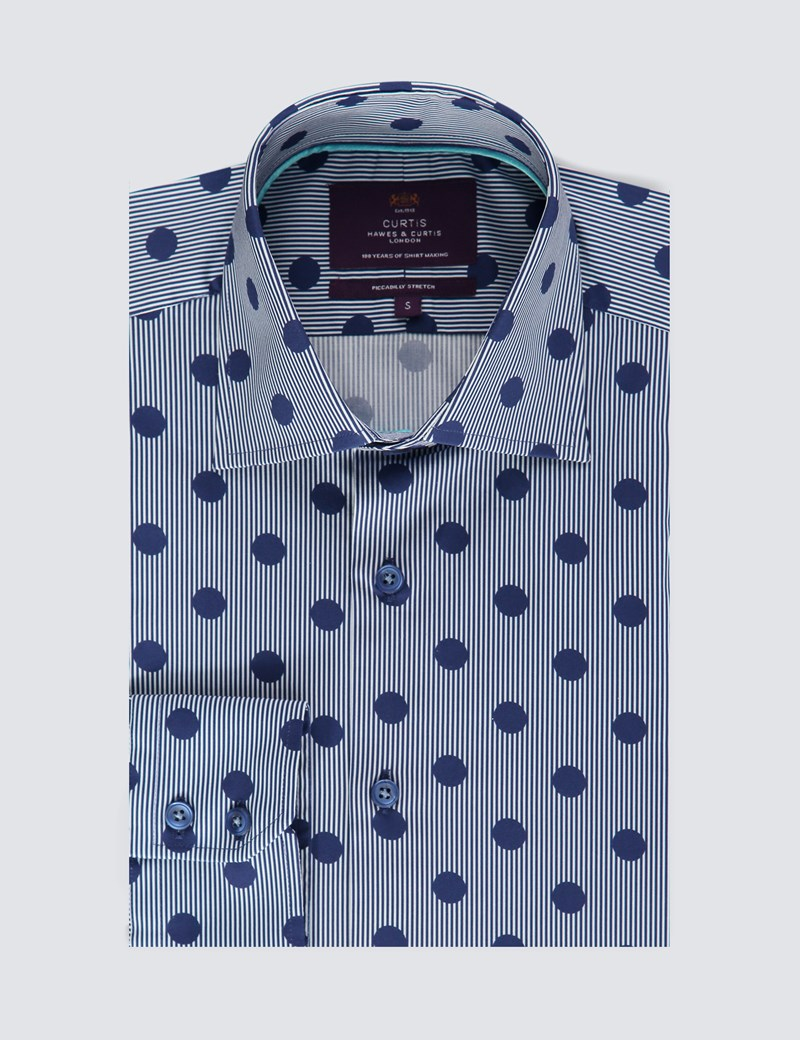 Casual Stretchemd – Slim Fit – Picadilly – Dots & Stripes