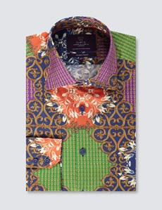 Casual Stretchhemd – Slim Fit – Picadilly – Royal Paisley