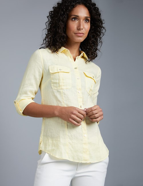 Women's Primrose Relaxed Fit Linen Shirt