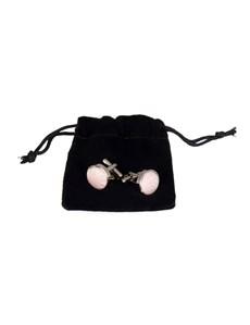 Men's Light Pink Paisley Silk Cufflinks