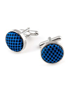 100% Silk Royal Blue Cufflink
