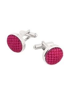 100% Silk Pink Natte Cufflinks