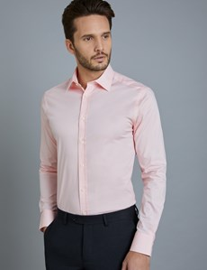 Men's Formal Pink Extra Slim Fit Stretch Shirt – Single Cuff