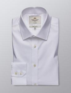 Business Hemd – Extra Slim Fit – Bügelfrei – Feiner Twill reinweiß
