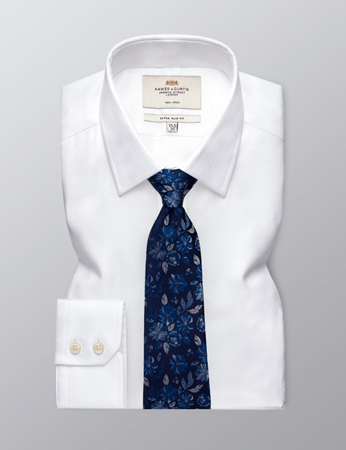 Men's Formal White Extra Slim Fit Shirt - Single Cuff - Non Iron