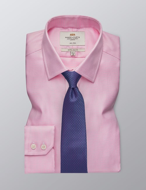 Men's Business Pink Extra Slim Fit Shirt - Single Cuff - Non Iron