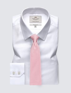 Men's Formal White Extra Slim Fit Shirt - Single Cuff - Easy Iron