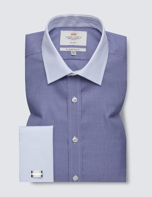 "18 1//2/"" Mens Williams /& Brown Short Sleeve Blue Check Shirt Size 17 1//2/"" 19/"","