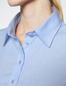 Ladies Light Blue Semi Fitted Shirt