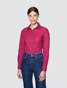 Ladies Burgundy Semi Fitted Shirt