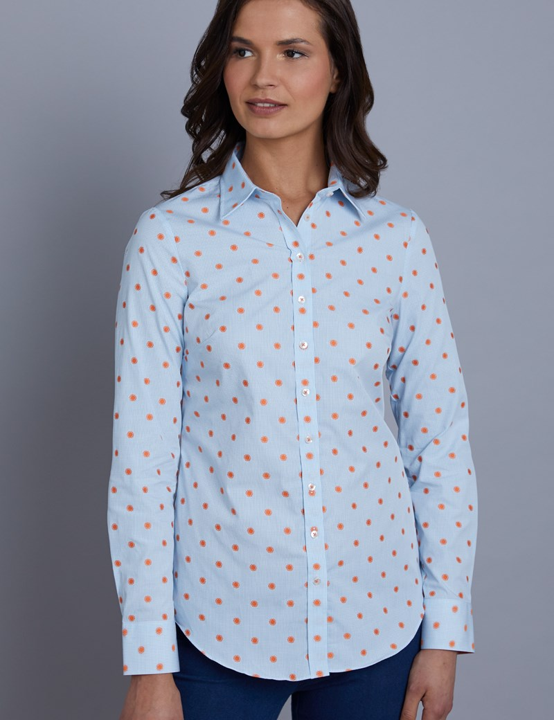 Bluse – Regular Fit – Baumwolle – Here comes the sun