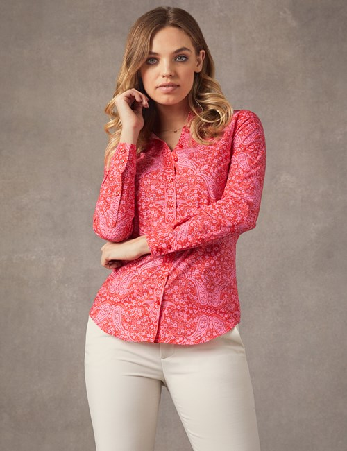 Bluse – Regular Fit – Baumwolle – Butterfly Paisley